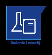 Ikona ilustrująca badania i rozwój