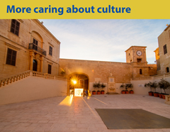 More caring about culture. Citadella, a medieval fortified area found within Gozo's main city Victoria. Phot. Alex Turnball
