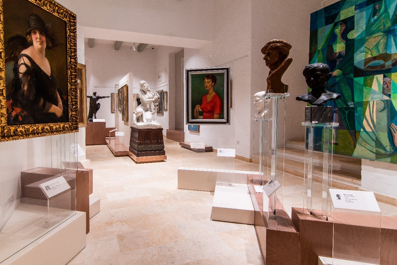 Collection of works in the Malta National Community Art Museum (MUŻA). Phot. Alex Turnball