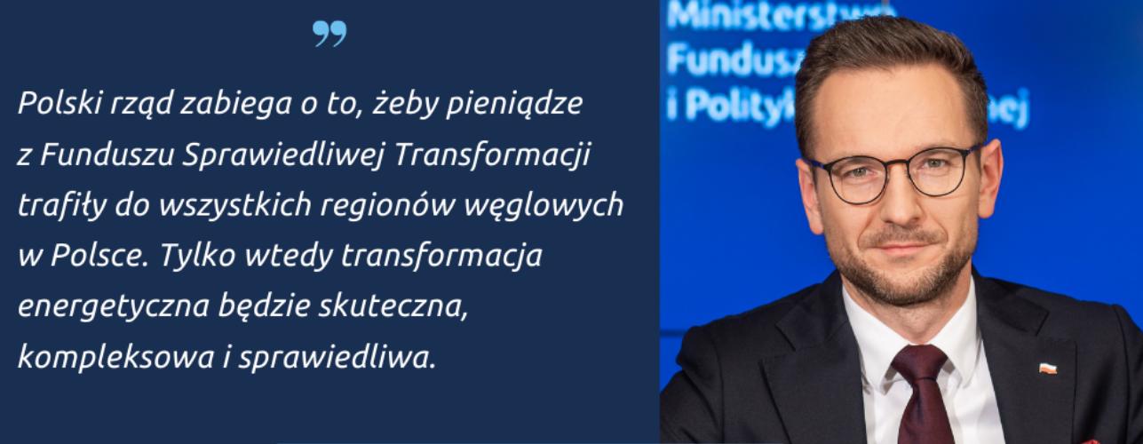 """Przekierowanie do wiadomości """"Fundusz Sprawiedliwej Transformacji. Do których regionów trafi wsparcie?"""""""