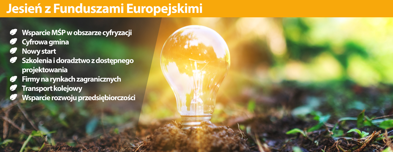 """Przekierowanie do wiadomości """"Jesień z Funduszami Europejskimi"""""""