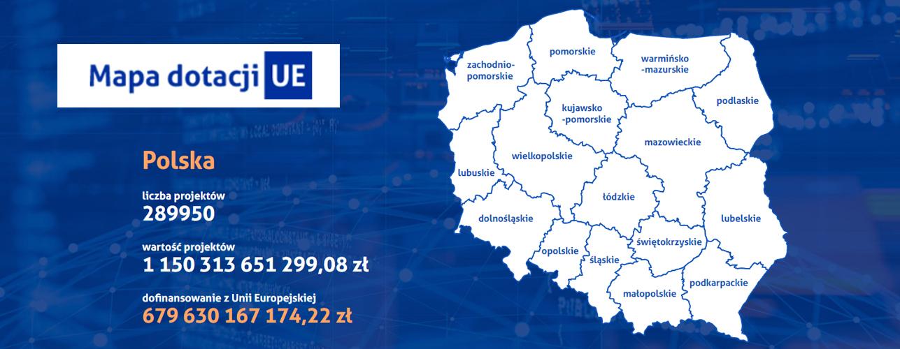 przekierowanie do wiadomości Mapa dotacji Unii Europejskiej. Zobacz, co powstało w naszym kraju z Funduszy Europejskich