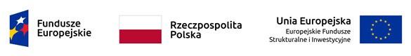 Zestawienie znaków: Fundusze Europejskie, Barwy Rzeczypospolitej Polskiej, Unia Europejska