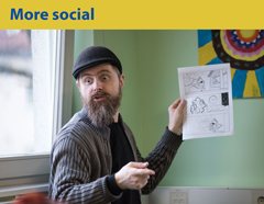 More social. Project Include and Activate! with famous Slovene illustrator. Phot. Jana Jocif