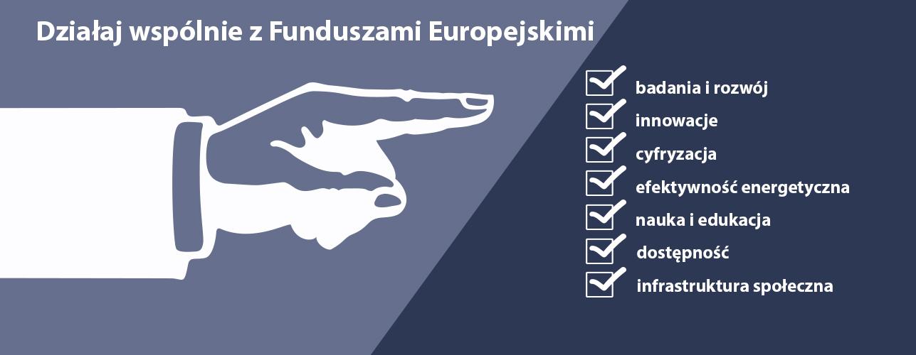 Przekierowanie do wiadomości: Działaj wspólnie z Funduszami Europejskimi