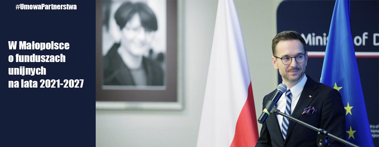 """Przekierowanie do wiadomości """"W Małopolsce o funduszach unijnych na lata 2021-2027. Konsultujemy Umowę Partnerstwa"""""""